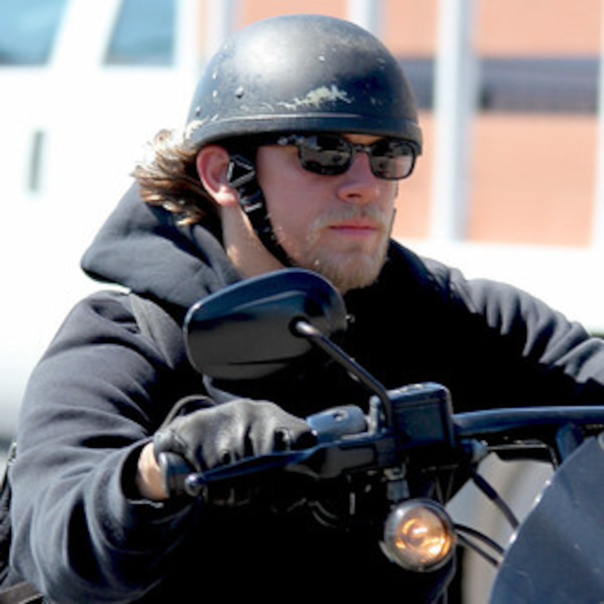 charlie hunnam naked on motorcycle